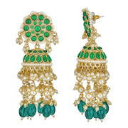 Ishani Drop Earrings in Emerald