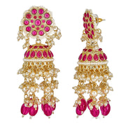 Ishani Drop Earrings in Ruby