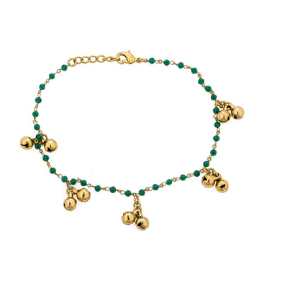 Naomi Anklet Set in Green