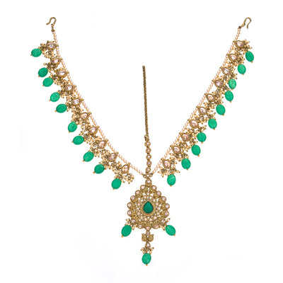 Damini Headpiece in Emerald