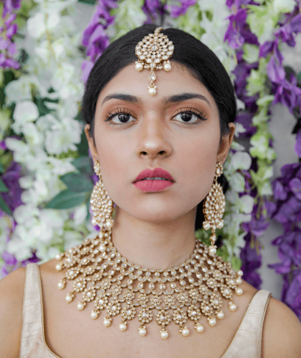 Kusum Necklace in Pearls