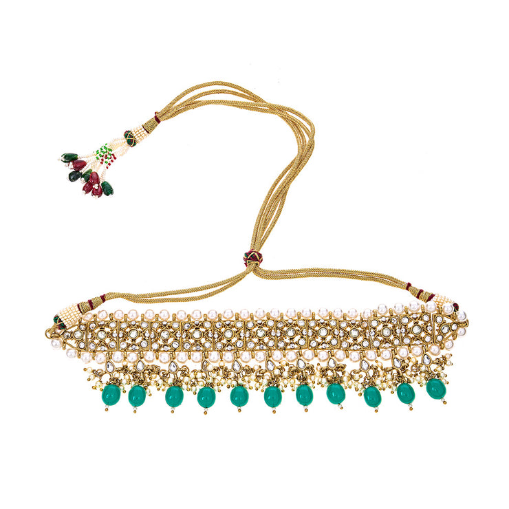 Nara Choker Necklace in Emerald