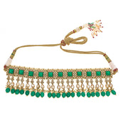 Saira Choker Necklace in Emerald