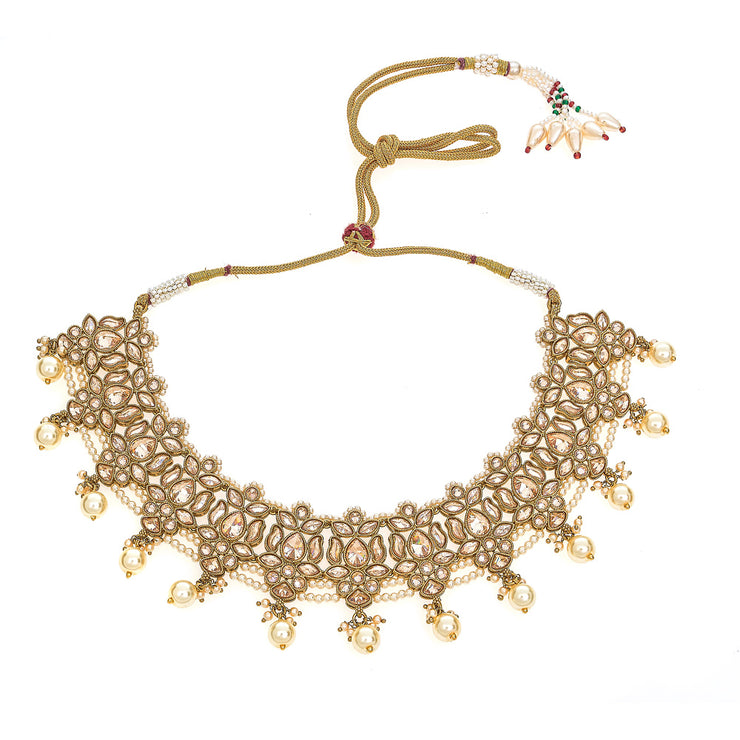 Ahana Choker Necklace in Champagne