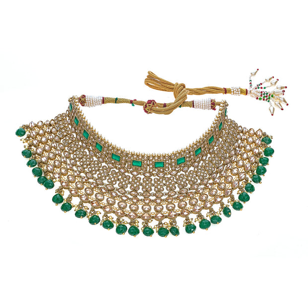 Mishita Necklace in Emerald Green