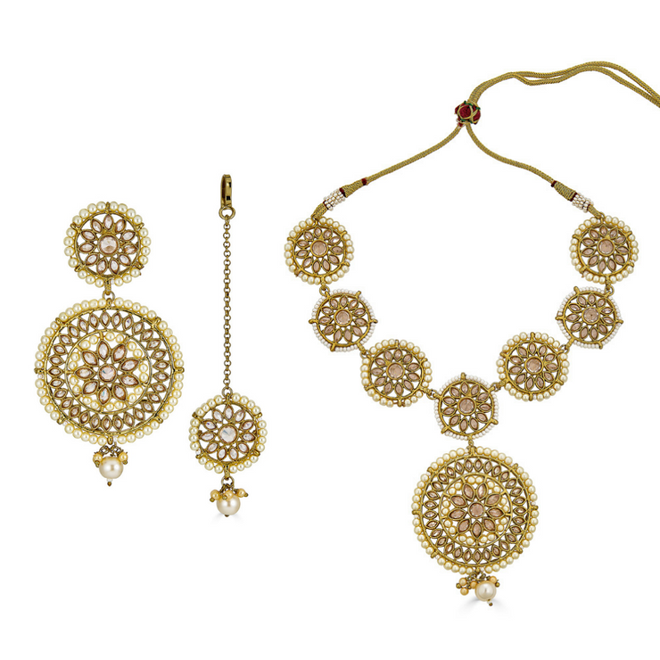 Shravya Choker Necklace Set