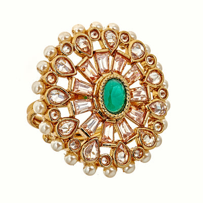 Aria Ring in Emerald
