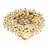India Pearl Cluster Ring