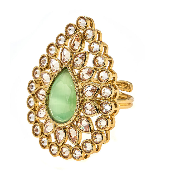 Abha Ring in Mint Green