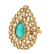 Abha Ring in Teal
