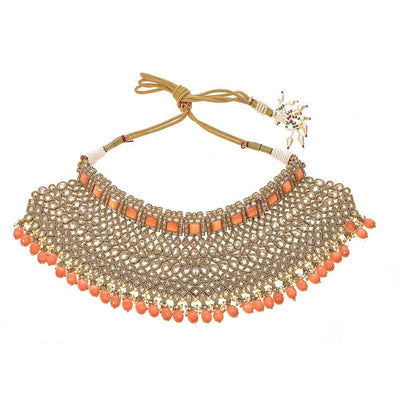 Gianna Necklace in Coral