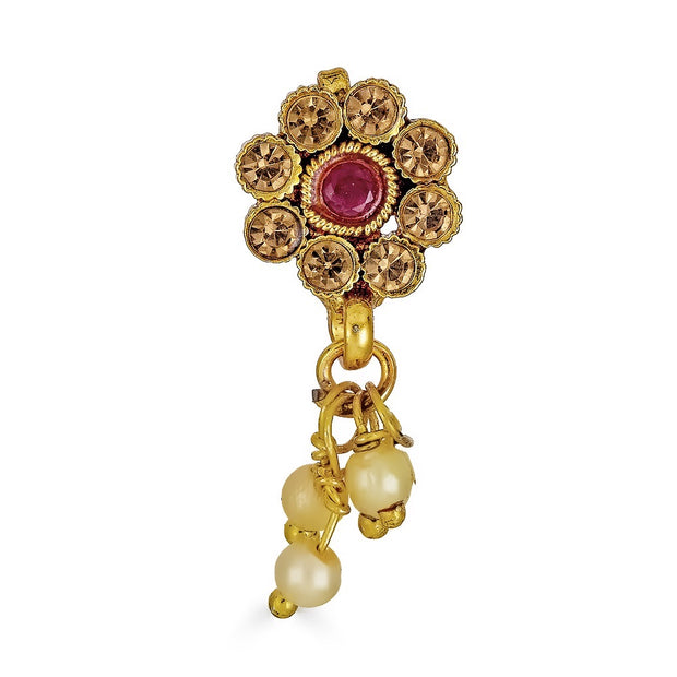 Abhati Nose Ring in Ruby