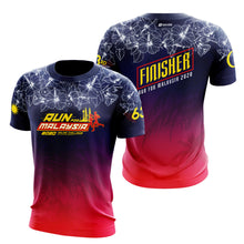 Load image into Gallery viewer, Run For Malaysia Finisher 2020 6.3KM Finisher T-Shirt