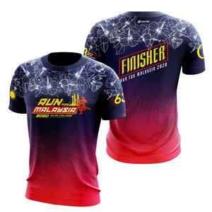 Run For Malaysia Finisher 2020 6.3KM Finisher T-Shirt