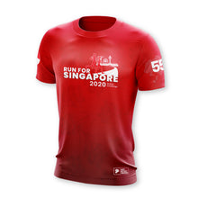 Load image into Gallery viewer, Run For Singapore 2020 5.5KM Finisher T-Shirt