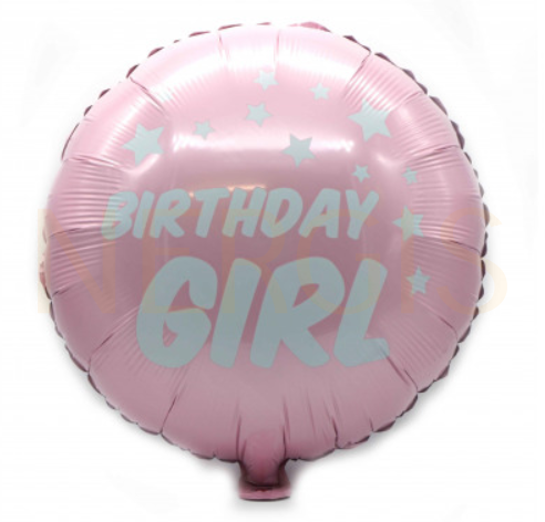 "Kinderparty Folienballon ""Girl"" rosa"