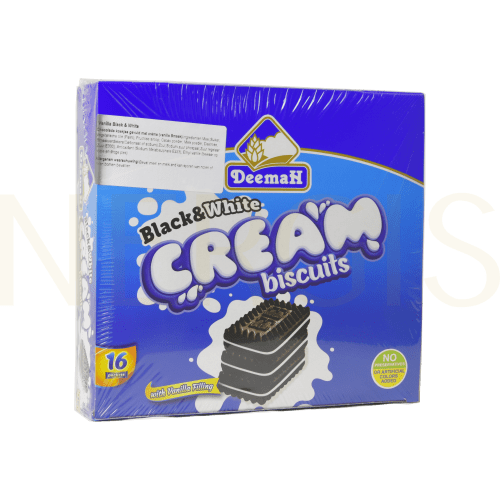 Deemah Cream Bisquits Black&White 16 St. - NERGIS Warenhandel