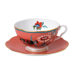 Paeonia Coral Tea Cup & Saucer