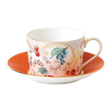 Load image into Gallery viewer, Wonderlust Rococo Flowers Teacup & Saucer