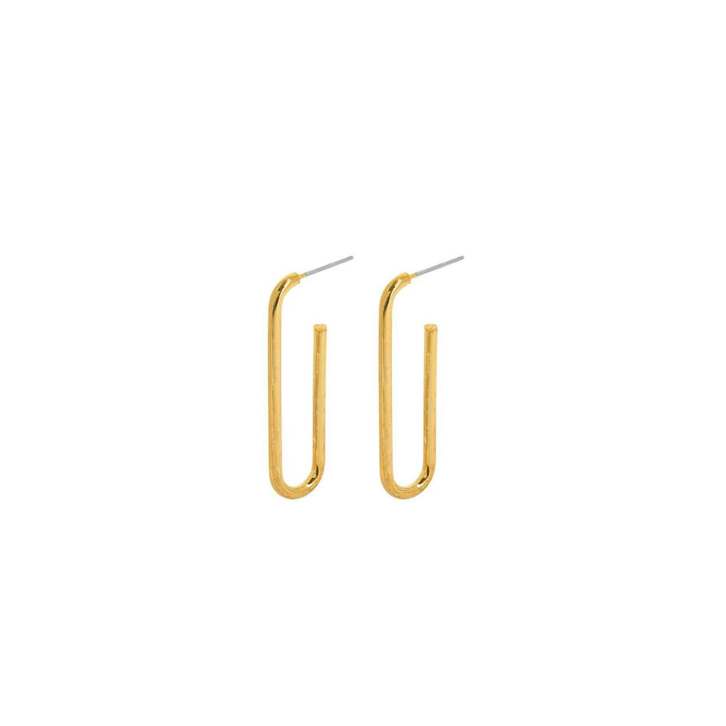 Smooth Line Gold Earrings