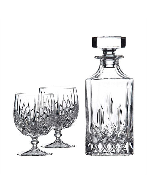 Brandy Glasses and Decanter Set