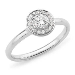 White Gold Round Brilliant-Cut Diamond Ring