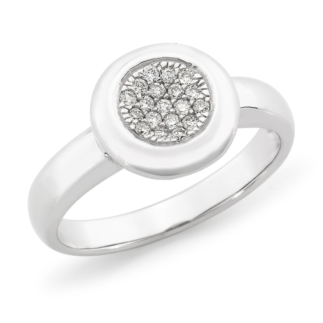 White Gold Pave Style Diamond Ring