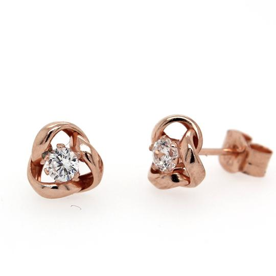 Rose Gold and CZ Twist Studs