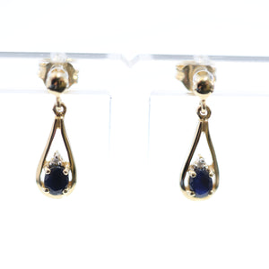 Yellow Gold and Sapphire Drops