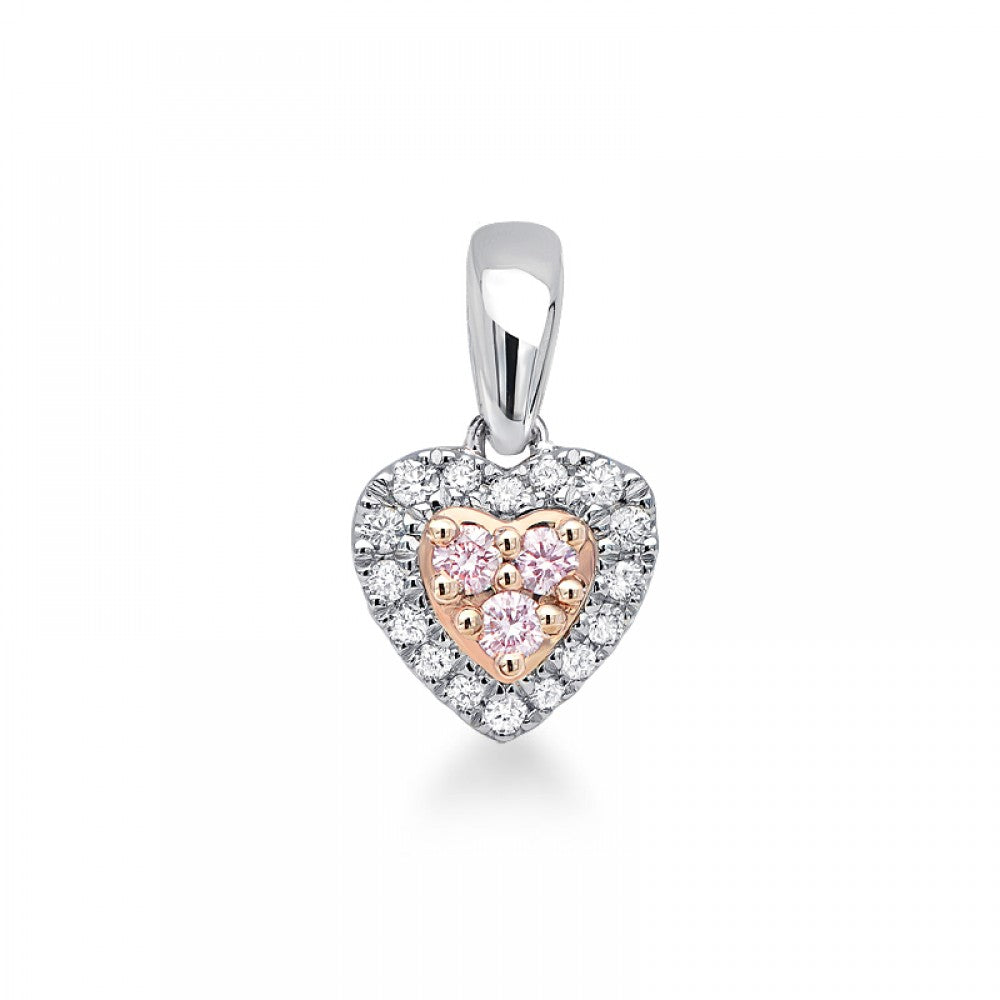 Blush Pink 'Joy' Heart Pendant