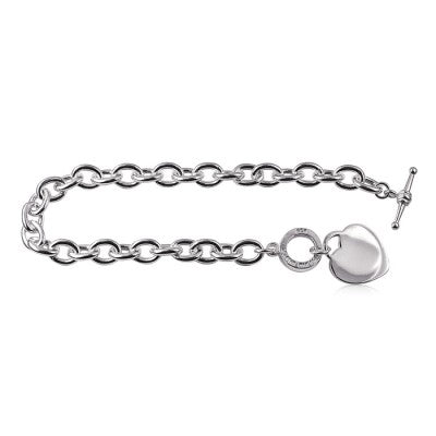 T-bar Style Bracelet with Heart
