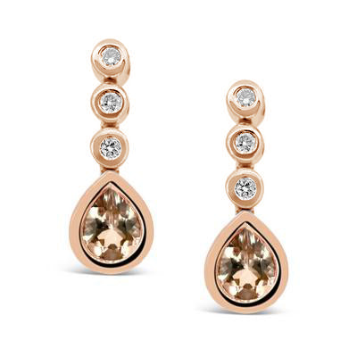 Rose Gold and Morganite Drop Earrings