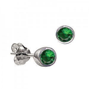 Dark Green Stud Earrings