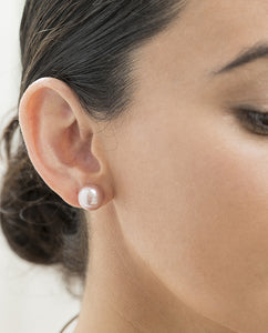 Natural Pink Edison Pearl Stud Earrings