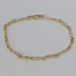 9ct Yellow Gold Antique Style Link Bracelet