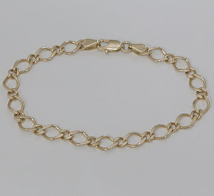 9ct Yellow Gold Figaro Link Bracelet