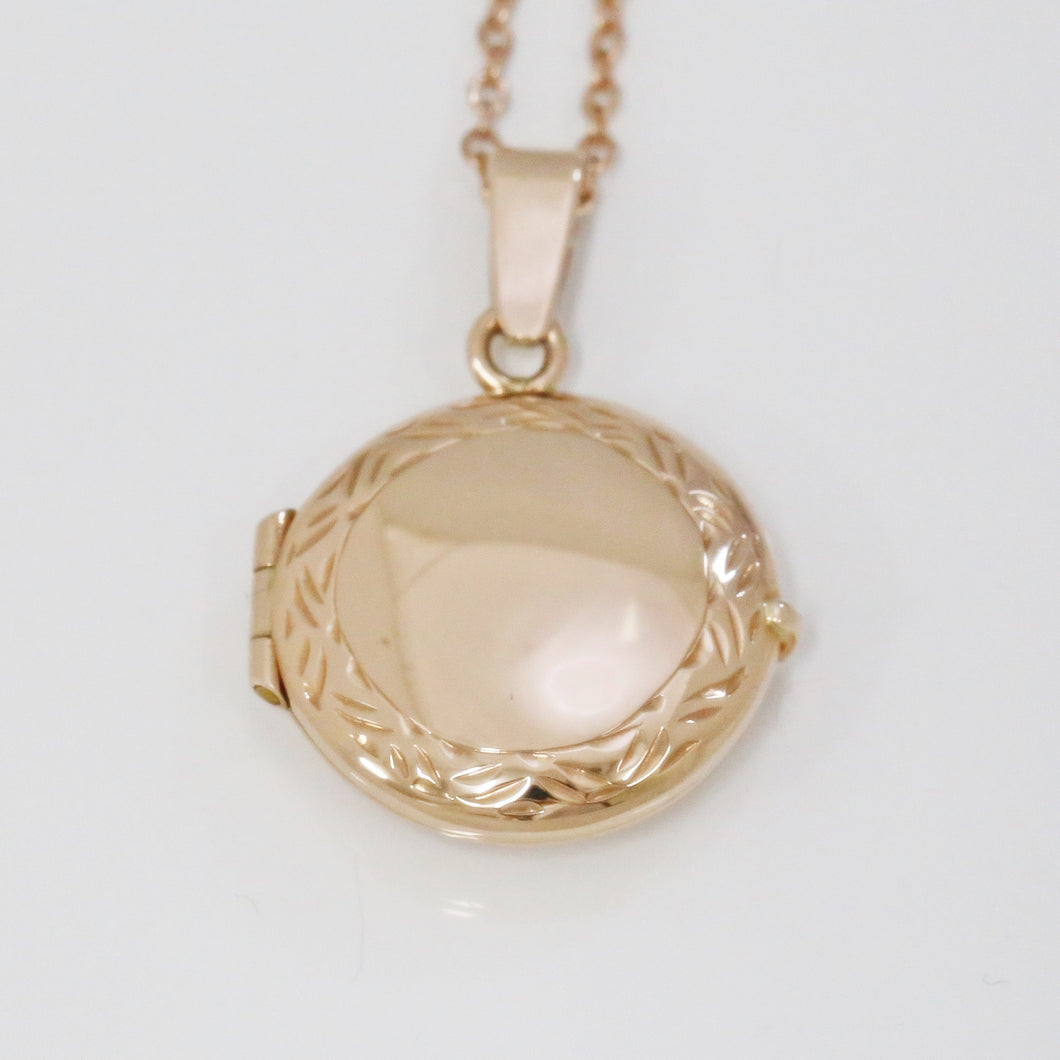 Handmade 9ct Rose Gold Round Locket (Medium)