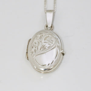 Handmade Sterling Silver Oval Locket (Small)