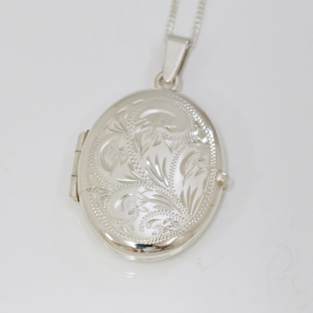 Handmade Sterling Silver Oval Locket (Medium)