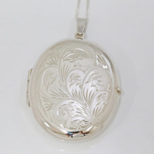 Handmade Sterling Silver Oval Locket (Large)