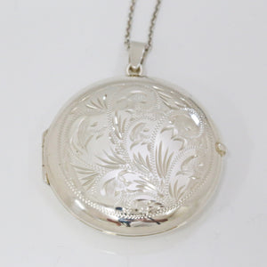 Handmade Sterling Silver Round Locket (Large)