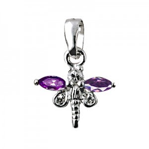 Purple Dragonfly Pendant