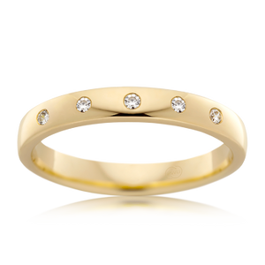 Hammer Set Diamond Ring