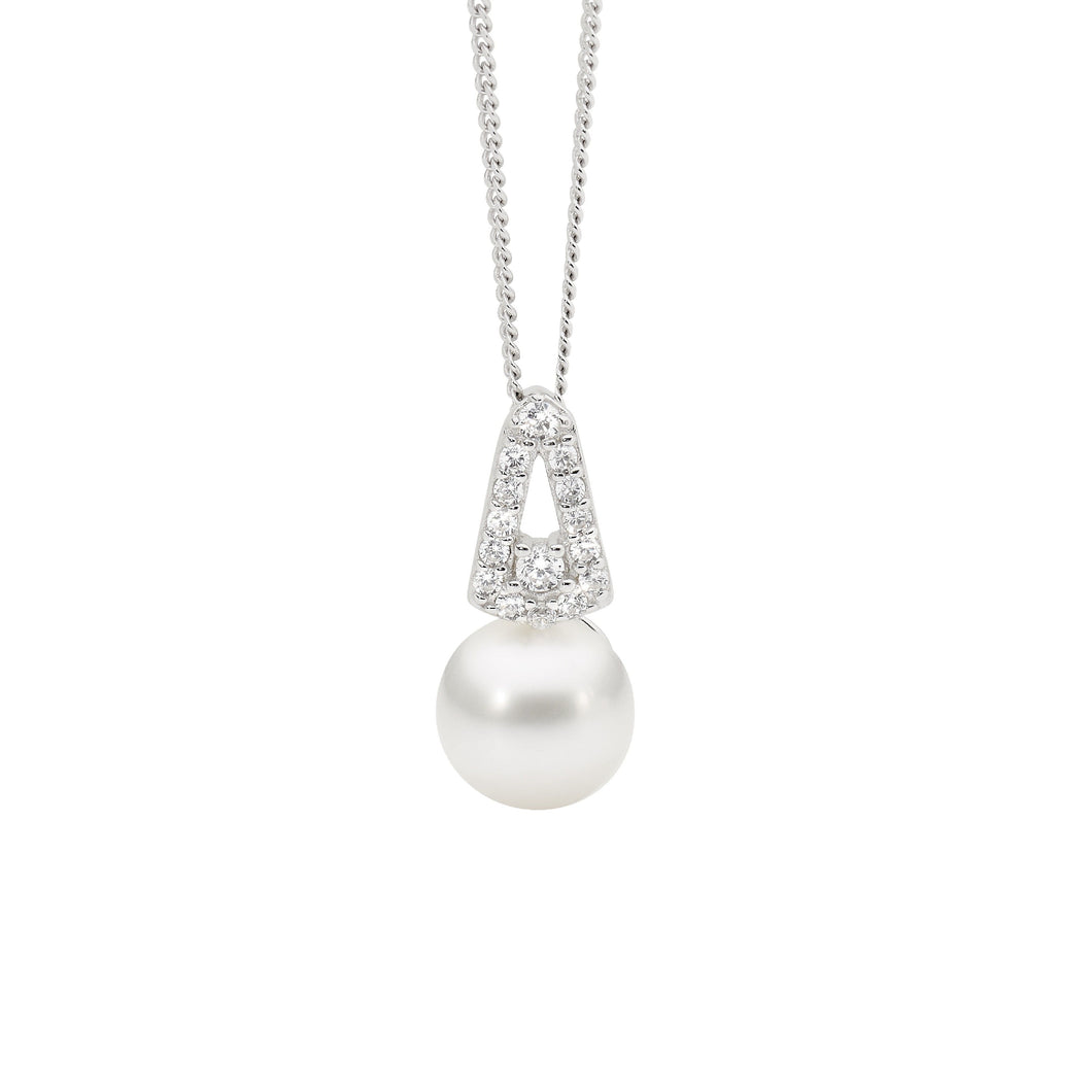 Sterling Silver and Freshwater Pearl Pendant