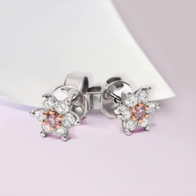 Load image into Gallery viewer, Pink Kimberley 'Novah' Stud Earrings