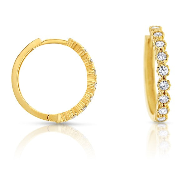9ct Yellow Gold 'Posie' Hoops
