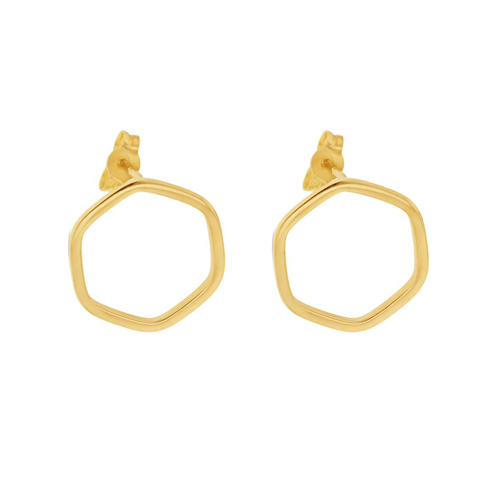 Open Form Hexagon Studs