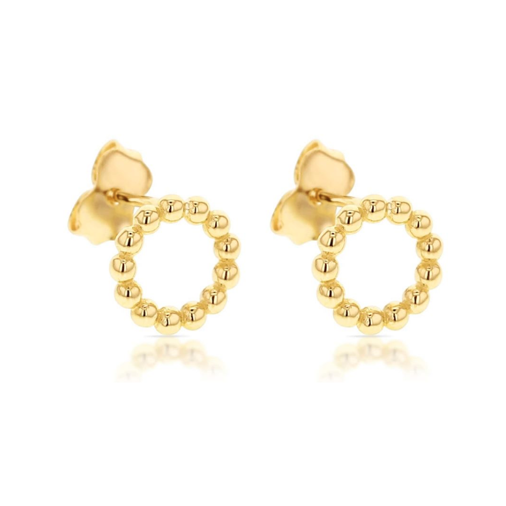 Yellow Gold 'Trixie' Earrings