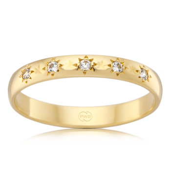 Yellow Gold Star Set Diamond Ring