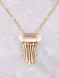 Quartz Point Layered Necklace Anarchy Street Gold - Details